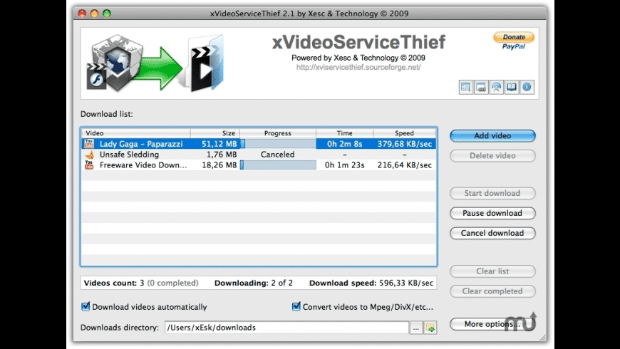 xVideoServiceThief for Mac - review, screenshots