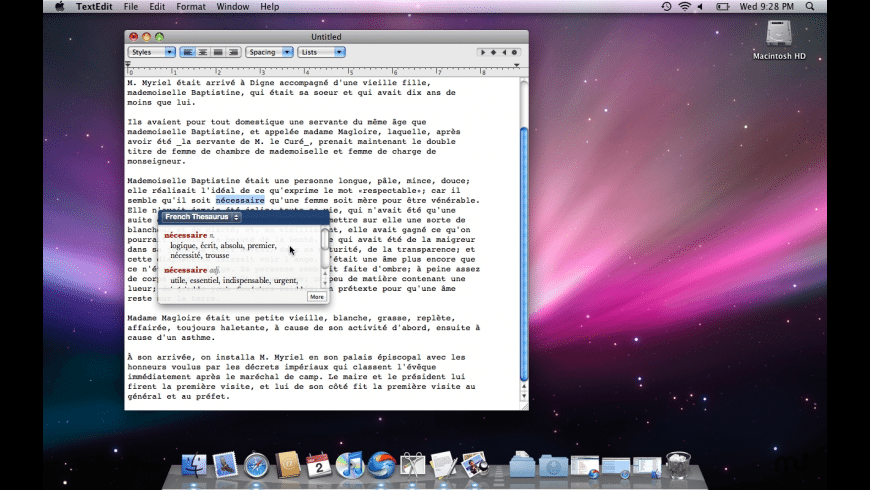 Ultralingua French-English Dictionary for Mac - review, screenshots