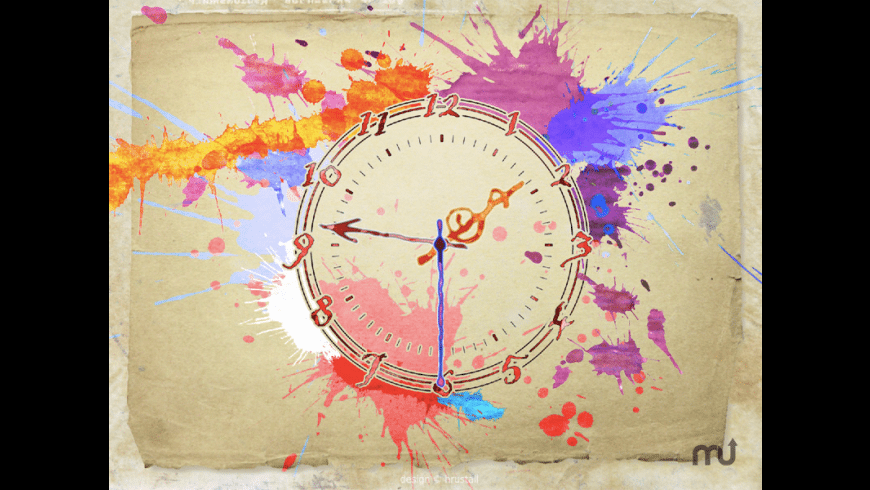 7art Water Color Clock for Mac - review, screenshots