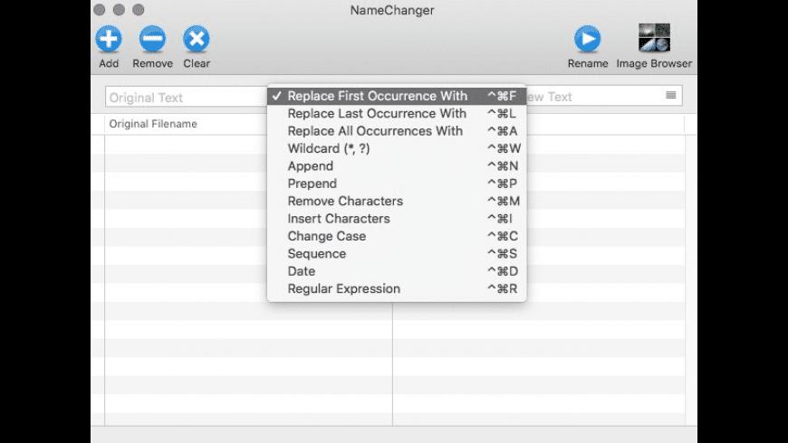 NameChanger for Mac - review, screenshots