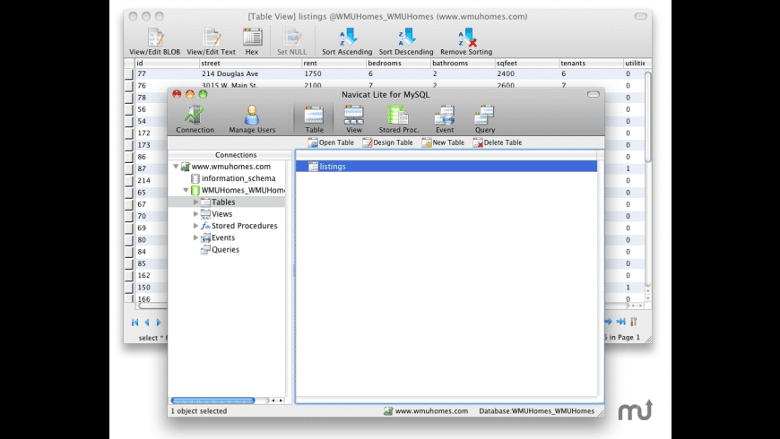 Navicat Lite for Mac - review, screenshots