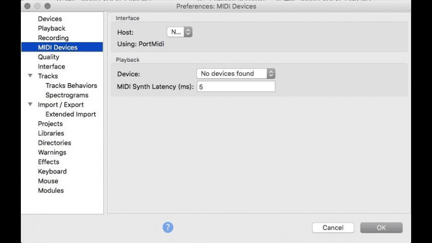 Audacity for Mac - review, screenshots