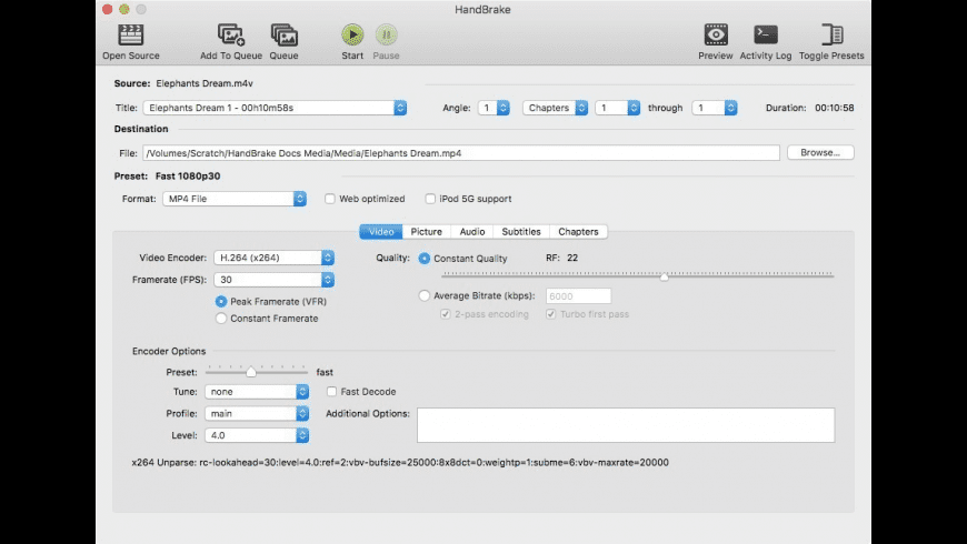 HandBrake for Mac - review, screenshots