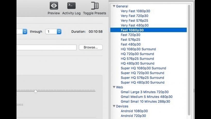 HandBrake for Mac - review, screenshots