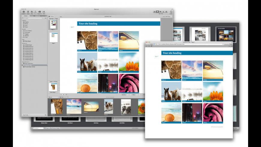Themes for Aperture for Mac - review, screenshots