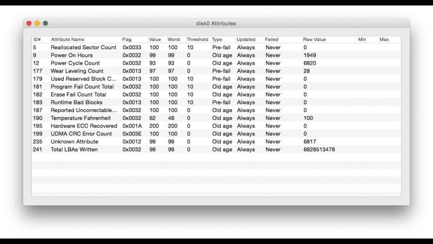 SMART Utility for Mac - review, screenshots