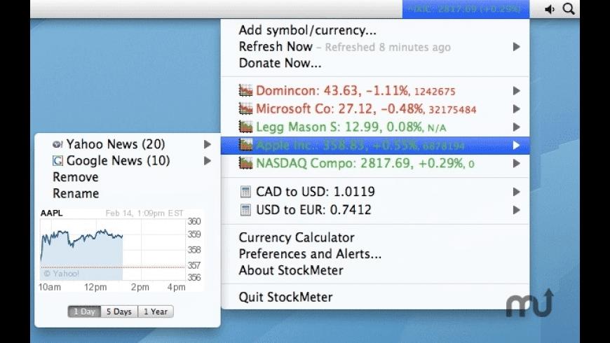 StockMeter for Mac - review, screenshots