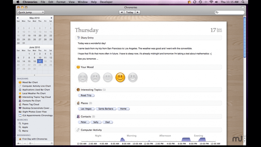 Chronories for Mac - review, screenshots
