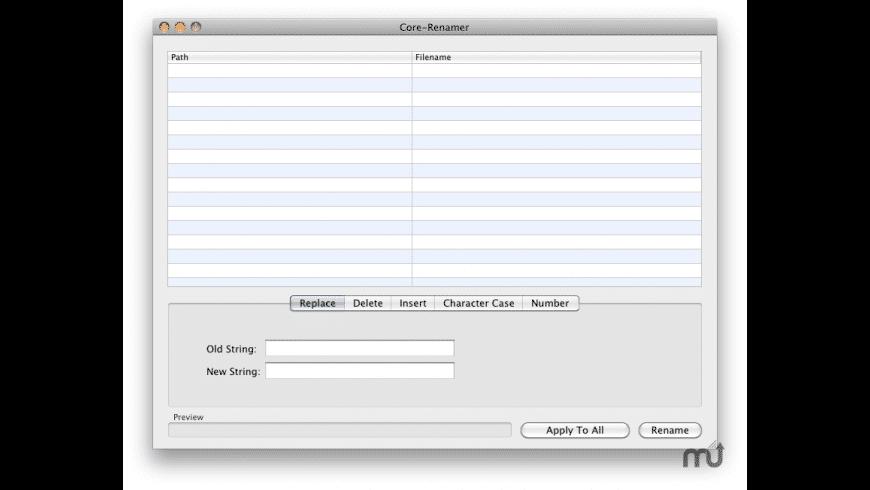 Core-Renamer for Mac - review, screenshots