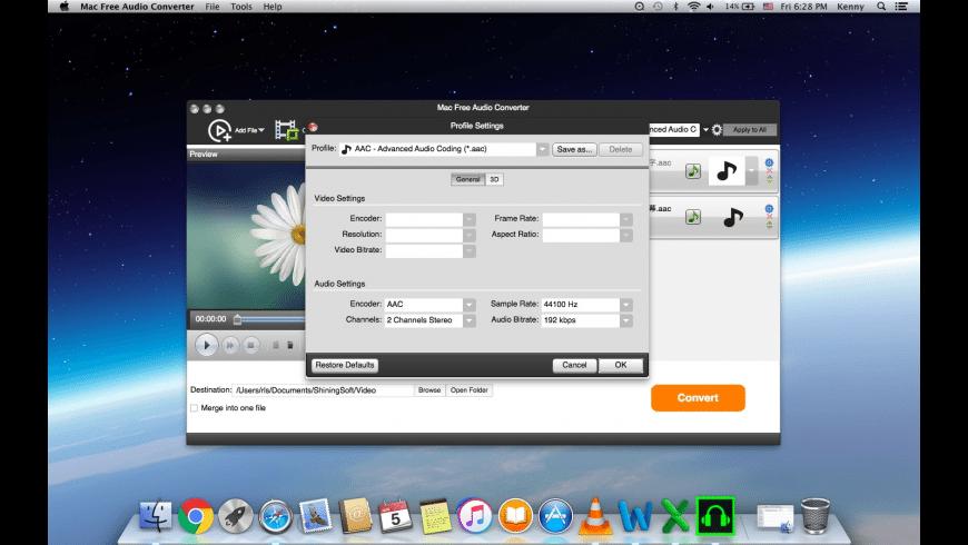 Shining Free Audio Converter for Mac - review, screenshots