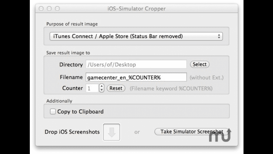 iOS-Simulator-Cropper for Mac - review, screenshots