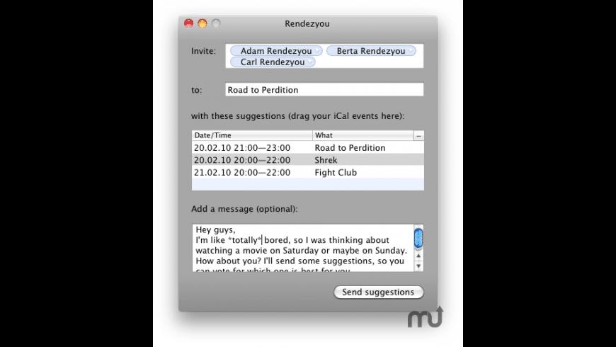 Rendezyou Client for Mac - review, screenshots