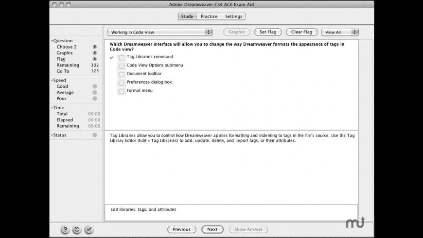 Adobe Dreamweaver CS4 ACE Exam Aid for Mac - review, screenshots