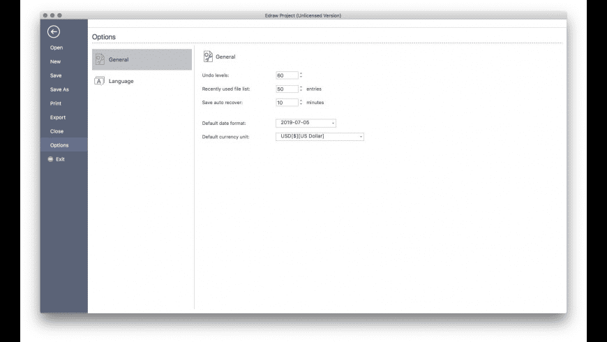 Edraw Project for Mac - review, screenshots