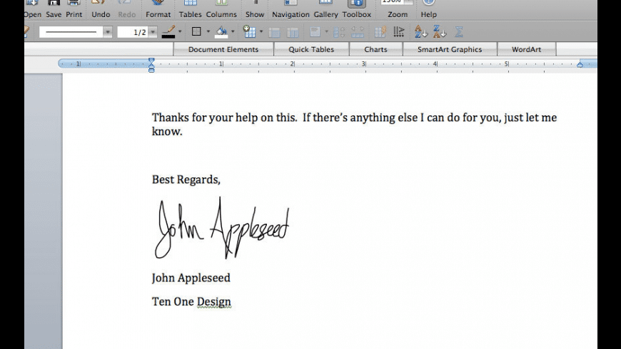 Autograph for Mac - review, screenshots