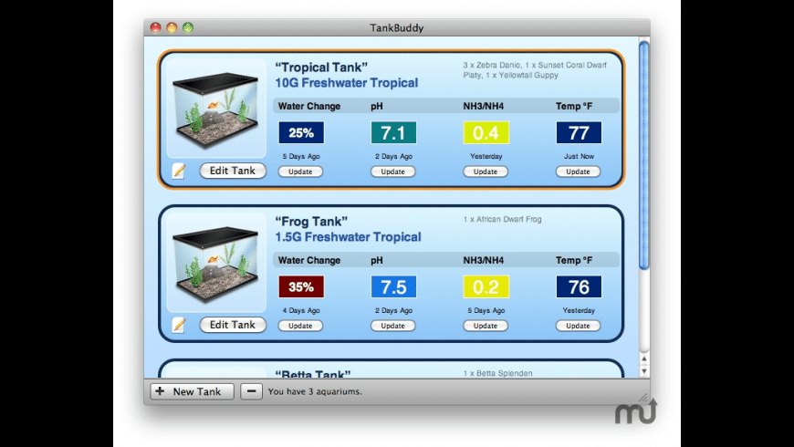 TankBuddy for Mac - review, screenshots