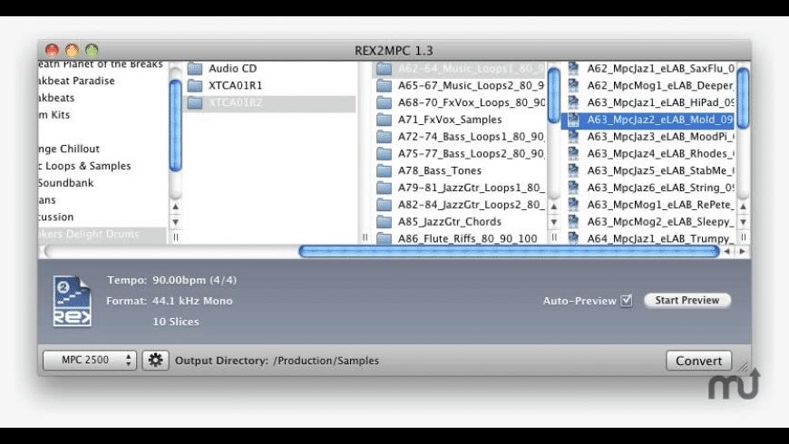 REX2MPC Lite 2000 for Mac - review, screenshots