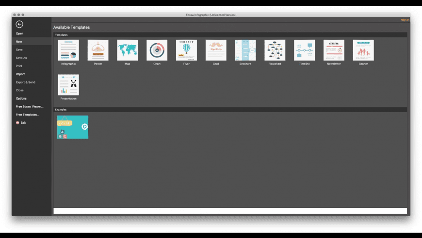 Edraw Infographic for Mac - review, screenshots