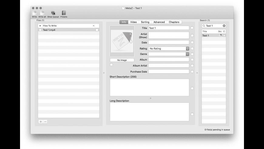 MetaZ for Mac - review, screenshots