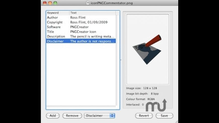 PNGCommentator for Mac - review, screenshots