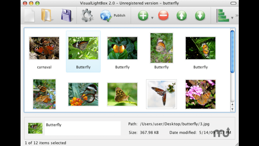 VisualLightBox for Mac - review, screenshots
