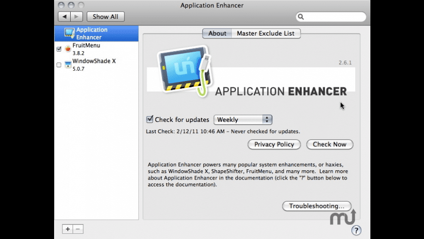 Application Enhancer for Mac - review, screenshots