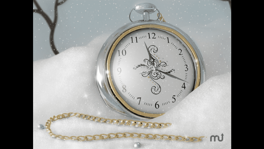 7art Silver Snow Clock for Mac - review, screenshots