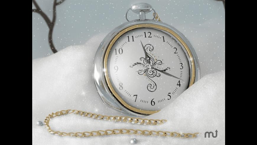 7art Silver Snow Clock for Mac - review, screenshots