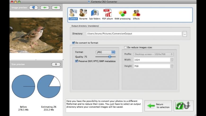 Contenta CR2 Converter for Mac - review, screenshots