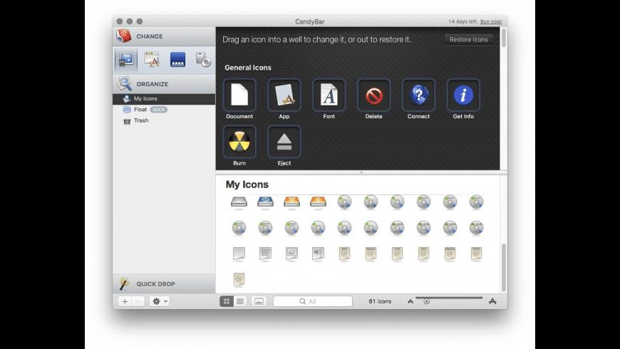 CandyBar for Mac - review, screenshots