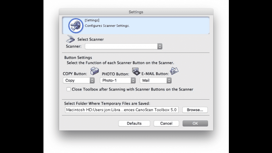 CanoScan Toolbox for Mac - review, screenshots