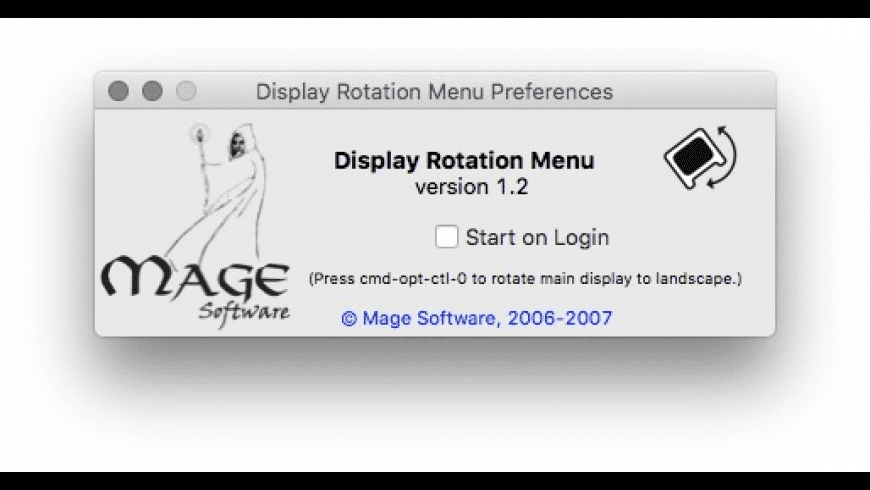 Display Rotation Menu for Mac - review, screenshots