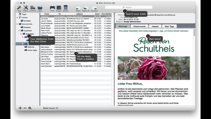 Mail Archiver X for Mac - review, screenshots
