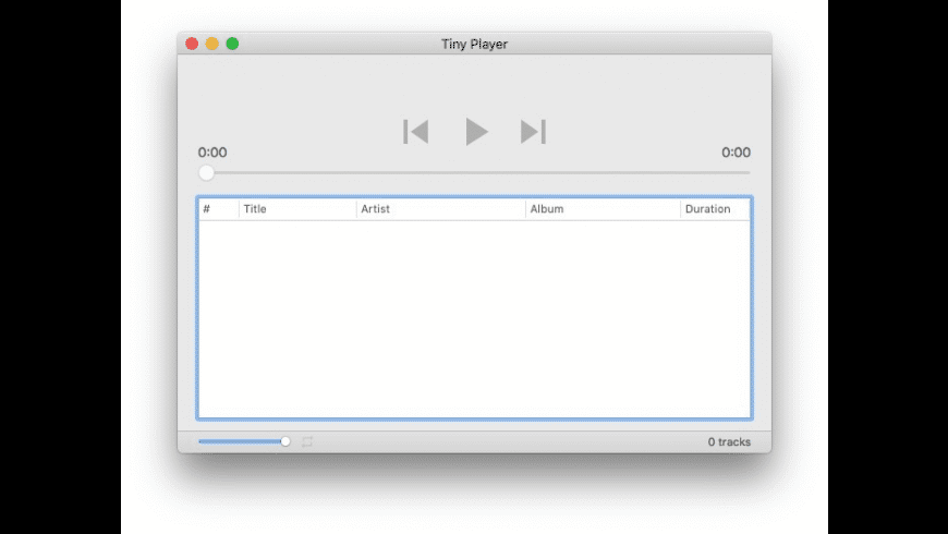 Tiny Player for Mac - review, screenshots