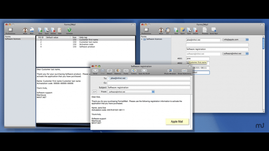 Forms2Mail for Mac - review, screenshots