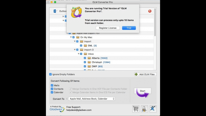 OLM Converter Pro for Mac - review, screenshots