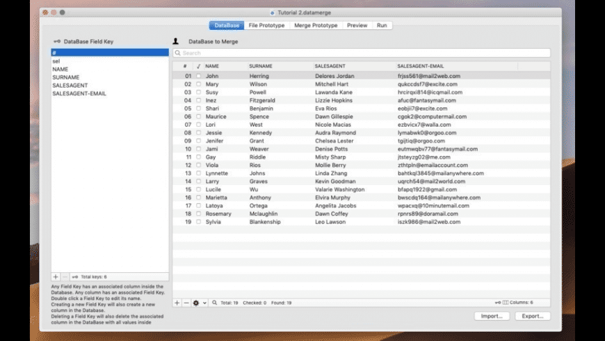 Data Merge for Mac - review, screenshots