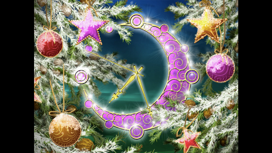 Colorful Christmas Clock for Mac - review, screenshots