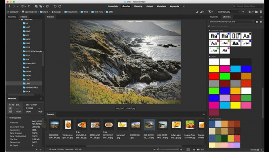 Adobe Bridge CC 2019 for Mac - review, screenshots