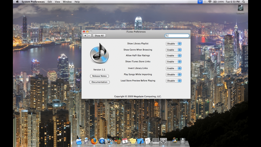 iTunes Preference Pane for Mac - review, screenshots