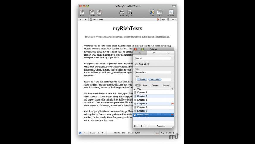 myRichTexts for Mac - review, screenshots