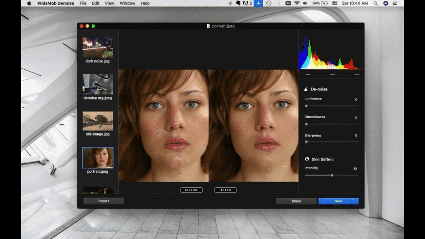 WidsMob Denoise for Mac - review, screenshots