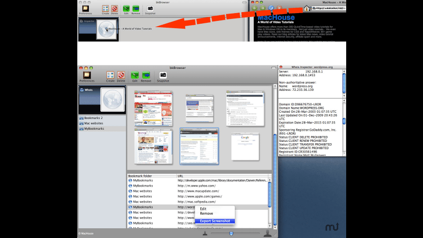 bkBrowser for Mac - review, screenshots