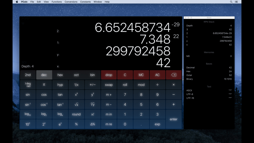 PCalc for Mac - review, screenshots