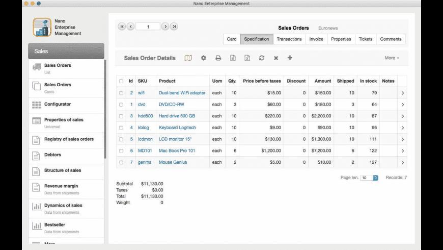 Nano Enterprise for Mac - review, screenshots