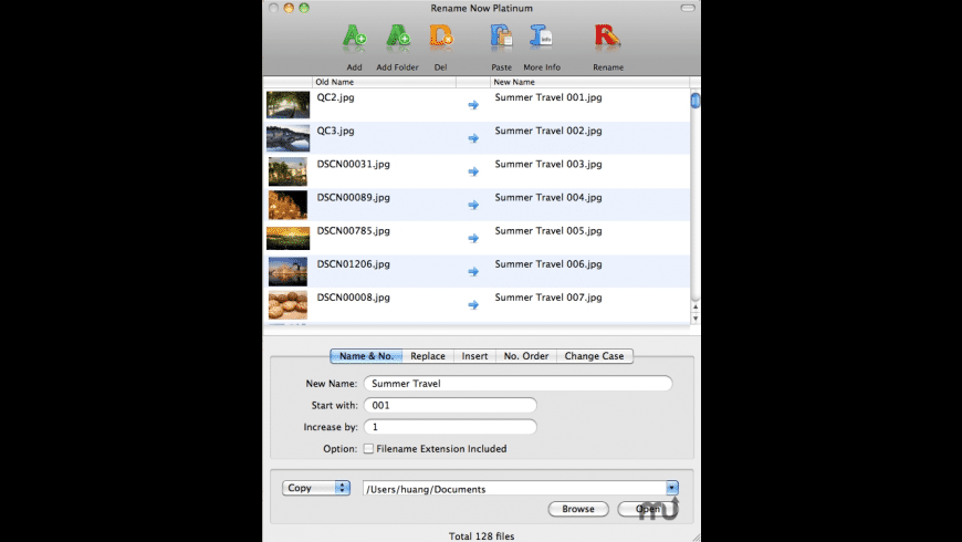 Rename Now for Mac - review, screenshots