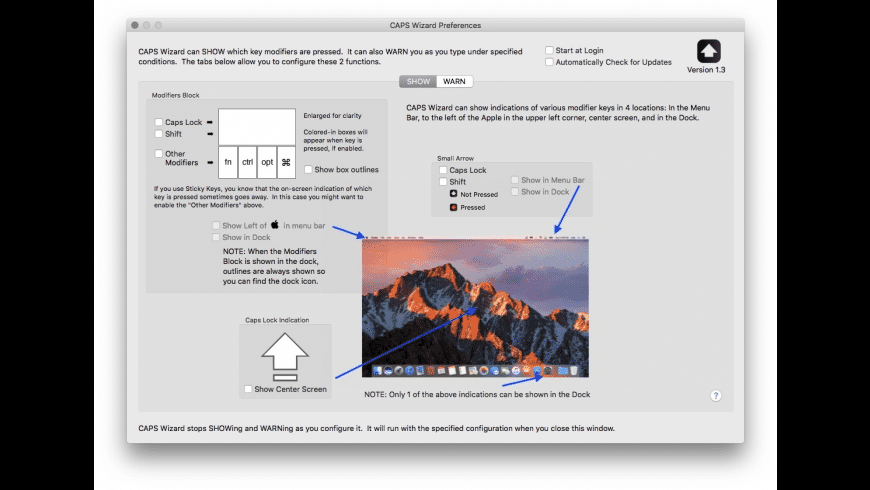 CAPS Wizard for Mac - review, screenshots