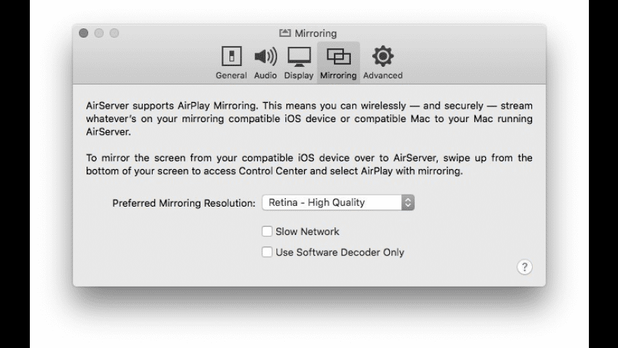 AirServer for Mac - review, screenshots