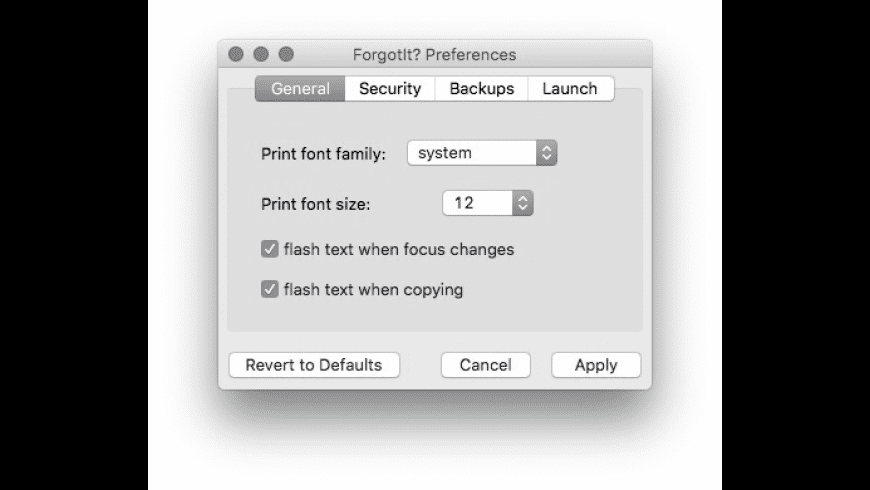 ForgotIt? for Mac - review, screenshots