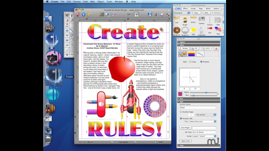 Create for Mac - review, screenshots